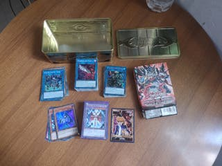 Cartas yugioh+Deck D/D/D+Lata+Fundas+Field Center