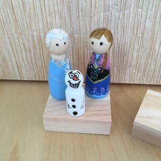 Figuritas de Elsa , Anna y Olaf ideal para tartas