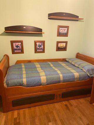 Conjunto de habitación: cama + armario + mesa