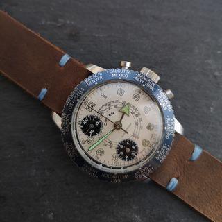 Vintage Cimier 1960's Chronograph Watch Panda Dial