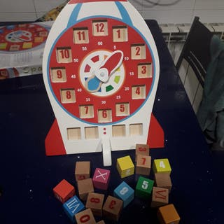 Reloj educativo madera
