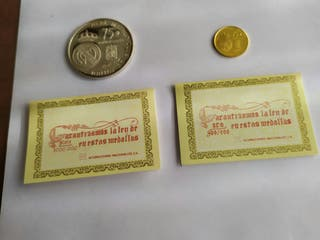 Real Madrid Medallas oro y plata 75 aniversario