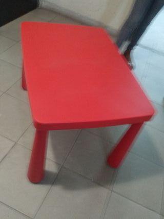 Mesa roja IKEA