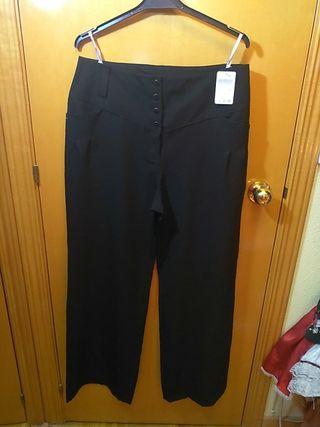 Pantalón negro cintura alta talla 44 M&S