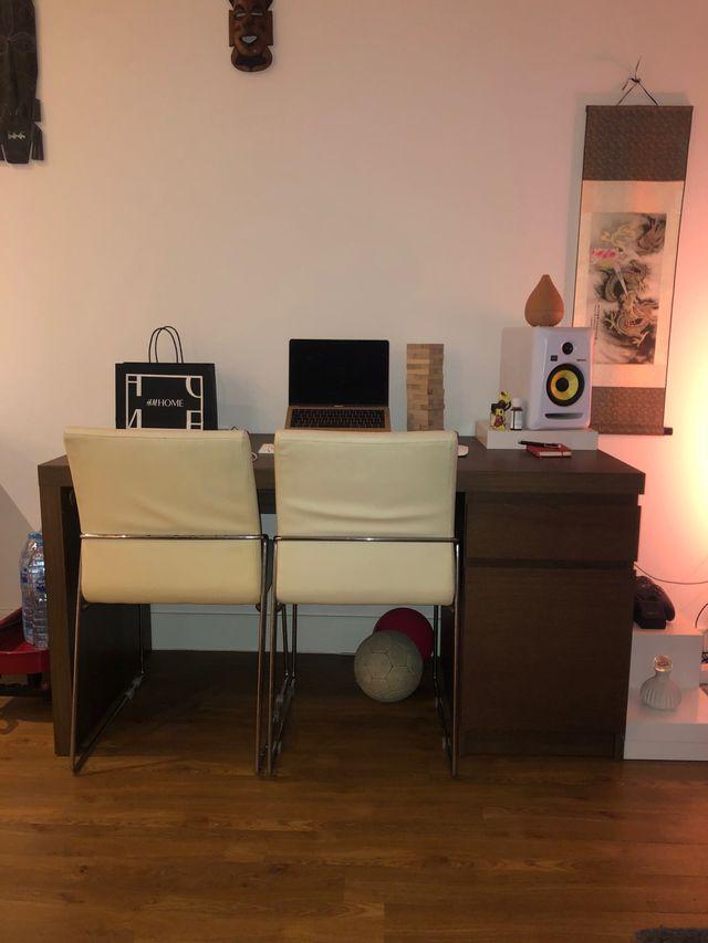 MALM IKEA COMPUTER DESK