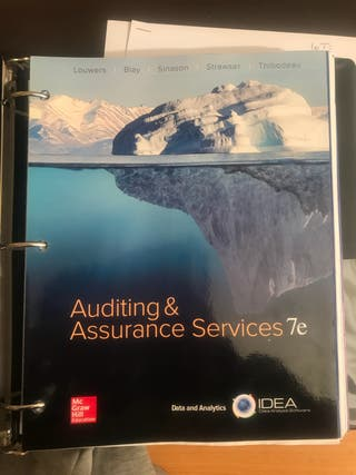 Auditing & Assurance Services 7e
