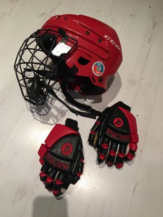 Hockey casco guantes talla s
