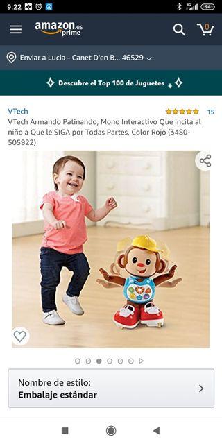 Vtech mono patinador con sonido y movimiento