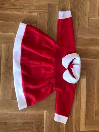 Disfraz bebe de papá Noel o mamá Noel casi nuevo