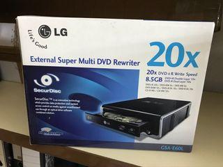 Grabadora DVD LG externa 20x GSA-E60L