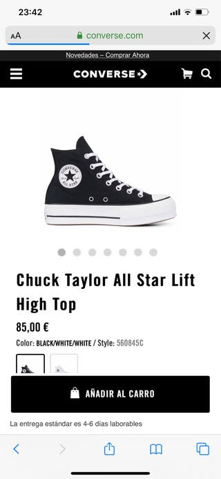 converse all star plataforma cuero
