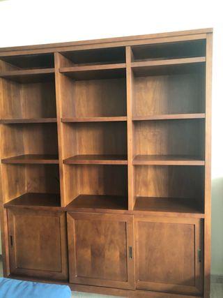 Mueble librería de madera