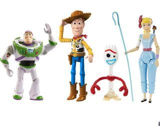 Mattel Disney Toy Story 4 Pack de 4 Figuras Básica