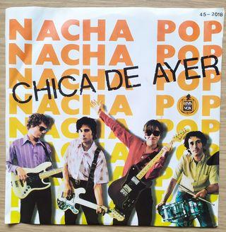 Disco de Vinilo Single Nacha Pop La chica de ayer