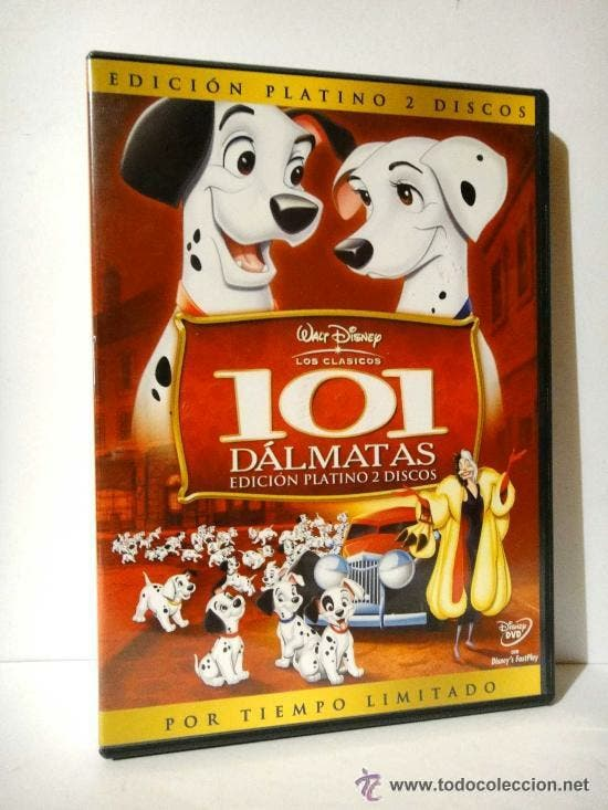 101 dalmatas edición platino 2 dvds disney pelicul