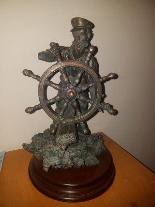 figura marinero hierro escultura decoracion