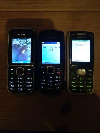 Lote 8 Teléfonos móviles antiguos