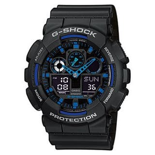 Casio g-shock negro y azul (sin pila)