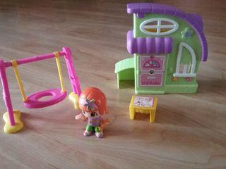 Pin y Pon: casa, columpio y muñeca