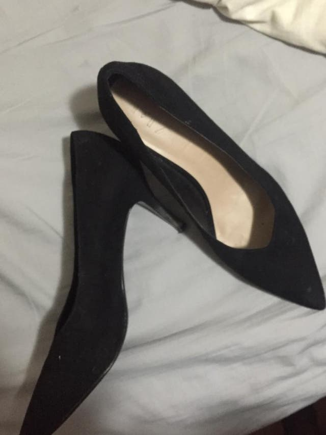 Zapatos negros de tacón Mango talla 41