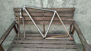 Cuadro fixie biciclet carretera Razesa y horquilla