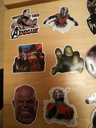 lote 57 pegatinas stikes vengadores Avengers