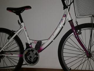 bicicleta de niña tamaño junior