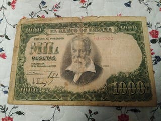 Billete de 1000 pesetas de 1951
