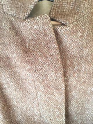 Abrigo de lana y mohair