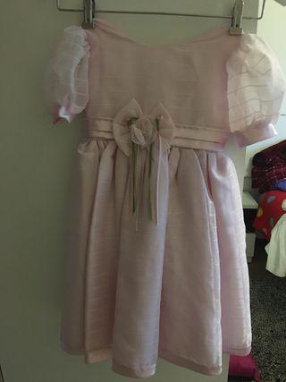 Vestido rosa con 2 veces de uso