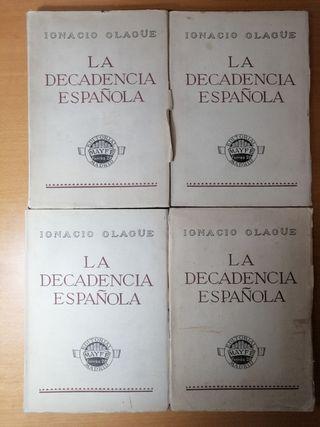 LA DECADENCIA ESPAÑOLA. IGNACIO OLAGÜE. HISTORIA