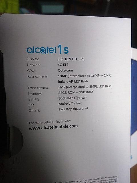 Movil Alcatel 1s doble cámara
