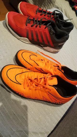 bambas zapatillas padel y fútbol talla 43