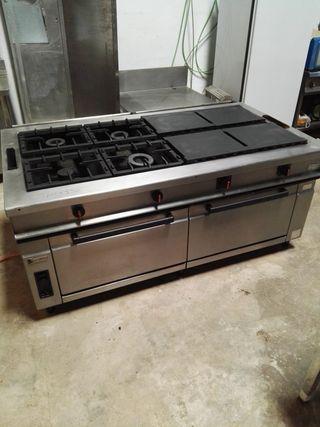 cocina gas 8 fuegos industrial horno