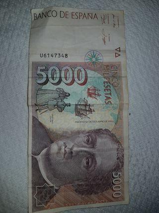 Billete 5000 pesetas 1992