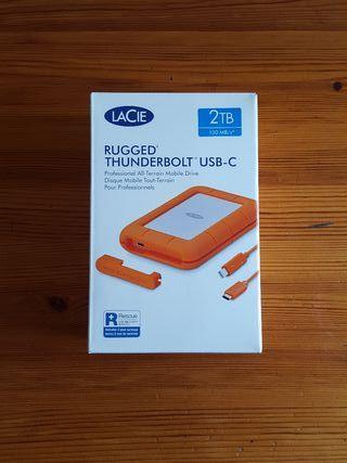 Disco Duro LACIE RUGGED 2TB Thunderbolt USB C ¡NEW