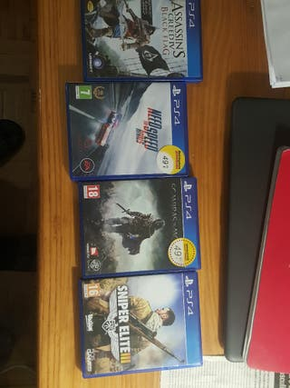 Videojuegos PS4(pack de 4 o individuales)