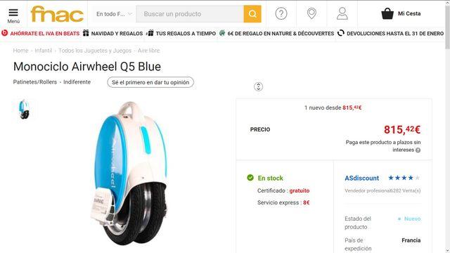 Monociclo Electrico Airwheel Q5 800w Bateria Sony
