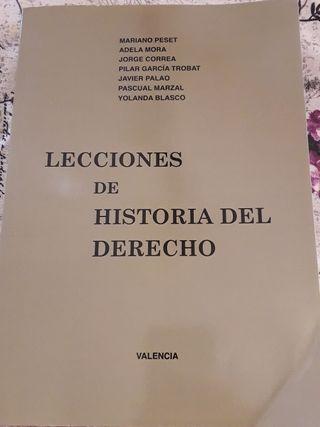 """Libro """"Lecciones de Historia del Derecho"""" UV"""