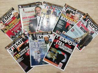 Lote 8 revistas Tiempo