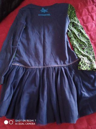 Vestido Desigual niña falda tul talla 5-6