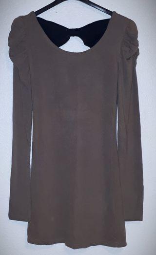 camiseta/Vestido manga larga con lazo