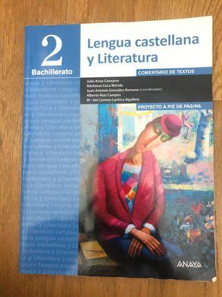 libro de lengua 2 de bachillerato