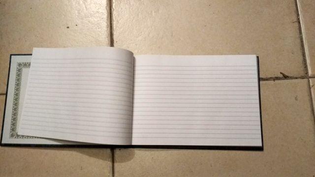 Cuaderno apaisado