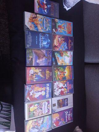 lote 15 películas VHS infantiles