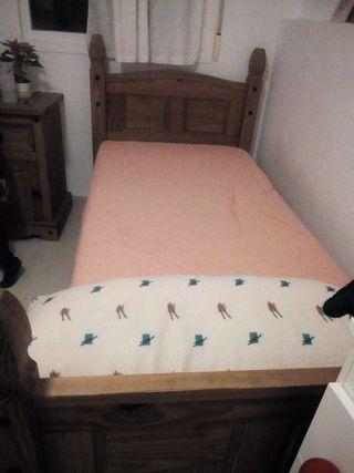 2 camas de madera rustica