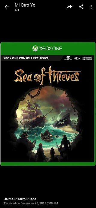 juego Sea of thieves para Xbox one y Windows 10