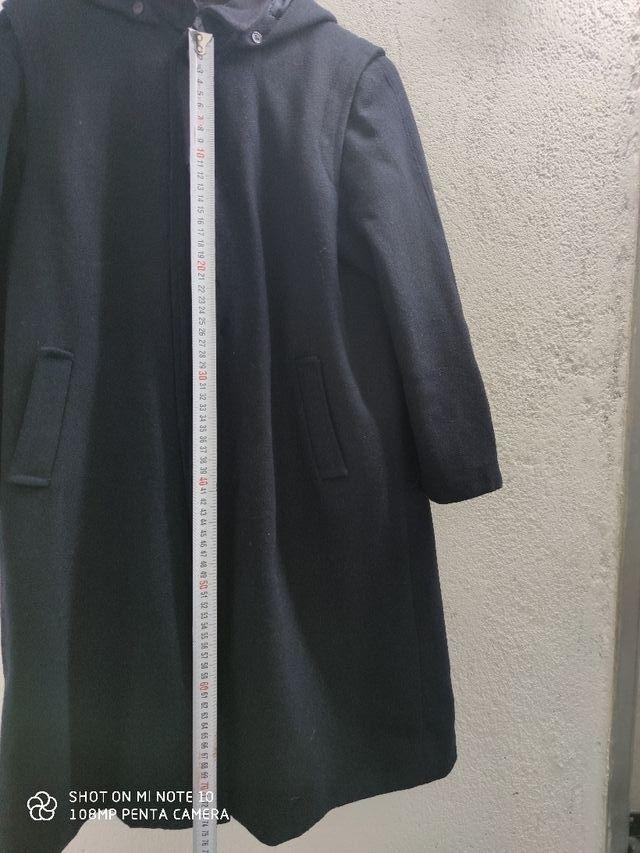 Abrigo colegial tipo Loden azul marino