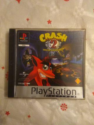 Crash Bandicoot 2 ps1 platinum en buen estado