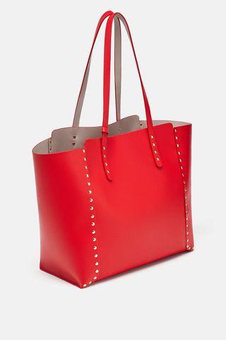 Bolso rojo reversible Zara